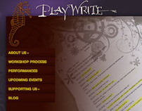 Website for PlayWrite, Inc.