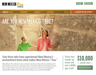 New Mexico True - Microsite
