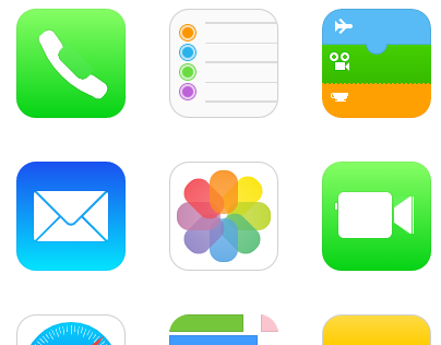 iOS 7 icons with pure CSS