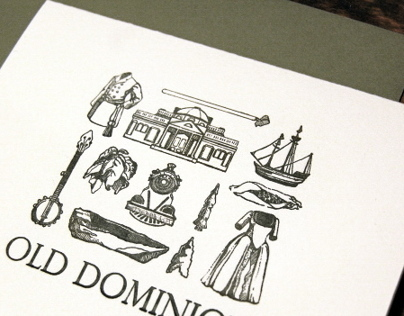 Old Dominion Letterpress Card