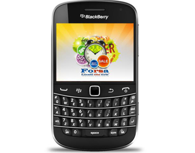 Forsa App on Blackberry