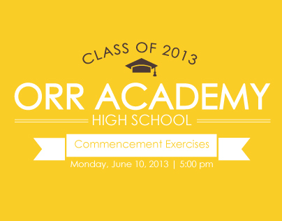Orr Academy High School 2013 Graduation Programs