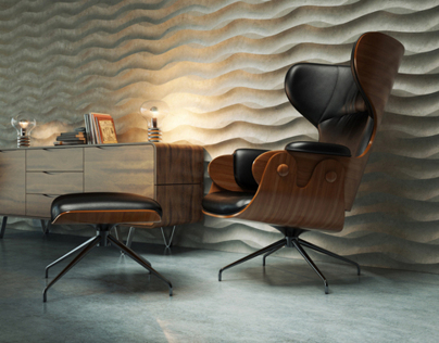 Renders BD Barcelona Lounge Chair