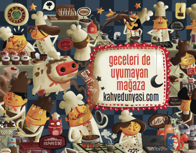 KAHVEDUNYASİ.COM, THE SHOP THAT DOESNT SLEEP AT NIGHT