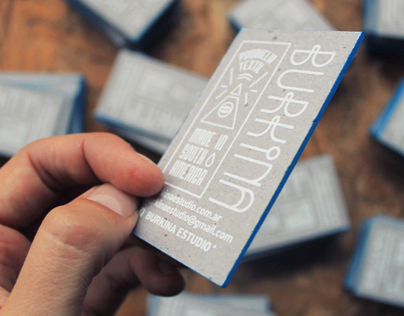 Burkinas Screenprinting Business Card