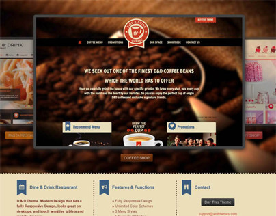 Dine & Drink, Premium WordPress Restaurant Theme