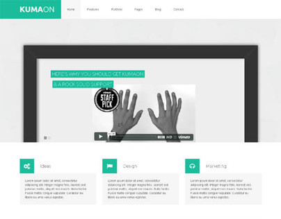 KUMAON, Wordpress Retina Ready Design Folio Theme