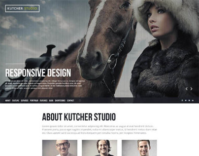 Kutcher Studio, WordPress Fullscreen Slider Ready Theme