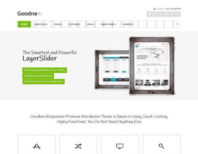 Goodnex, WordPress Premium Responsive Theme