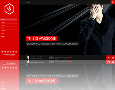 La-Band, WordPress FullScreen Music Band Theme