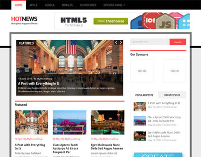 Hotnews, WordPress Premium Responsive Magazine Theme