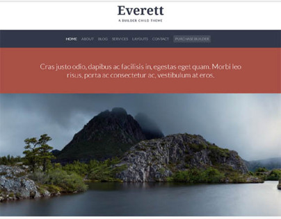 Everett, WordPress Simple Clean Responsive Child Theme