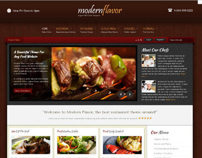 Modern Flavor, Premium WordPress 2013 Restaurant Theme