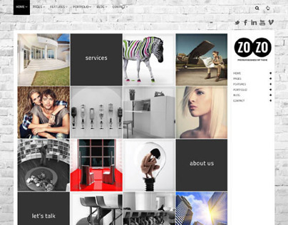 ZOZO, WordPress Responsive Multi-Business Theme