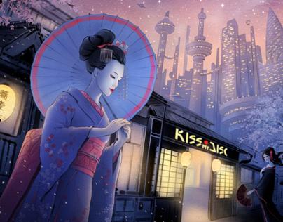 Illustration for KissMyDisc.jp