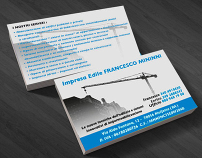 Impresa Edile Mininni - Business Card