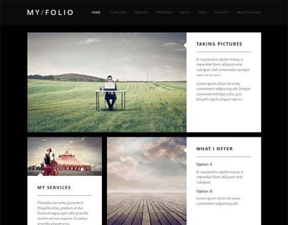 My Folio, Joomla Responsive Photography Template
