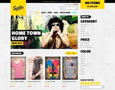 JM Siotis, Magento Responsive Yellow Fashion Theme