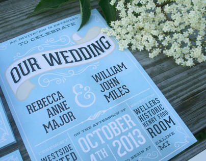Miles Wedding Invitations