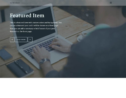 tdWriter, WordPress Design Studio Theme