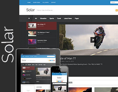 Solar - Video WordPress Theme