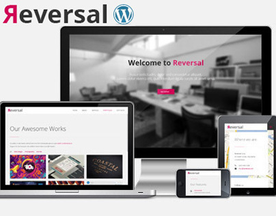 Reversal - Horizontal One Page WordPress Theme