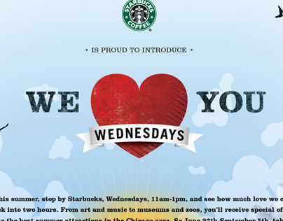 Starbucks' We Love You Wednesdays Campaign