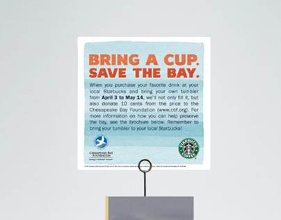 Starbucks Save the Bay Campaign Card