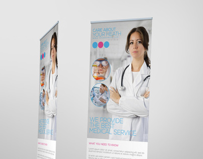 Premium Medical Roll-up Banner