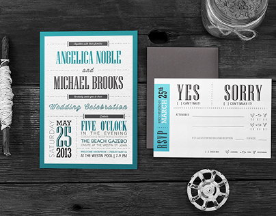 Destination Wedding Invitation Package