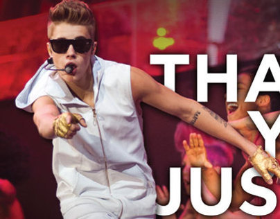 Justin Bieber Thank You Ad