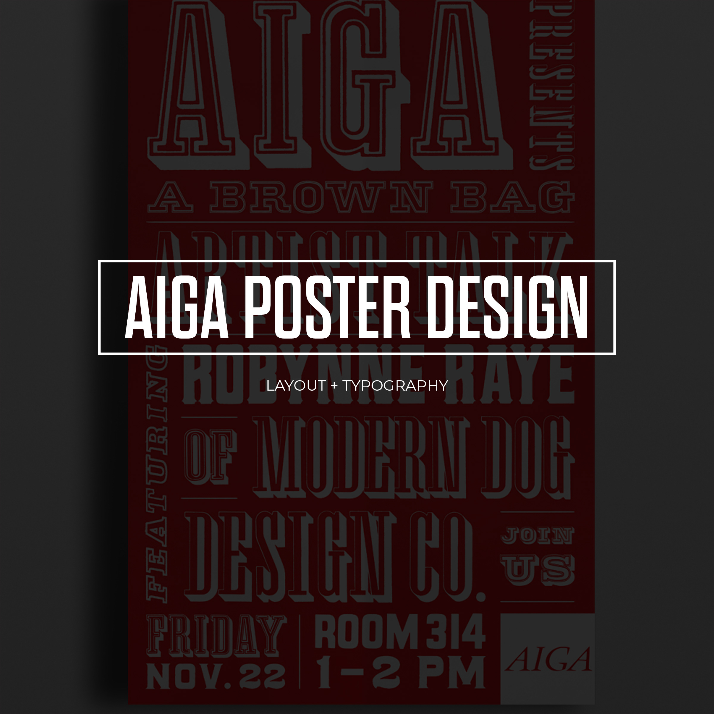 AIGA Talk with Robynne Raye of Modern Dog Type Poster