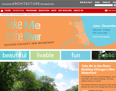 Take Me to the River Exhibit Website