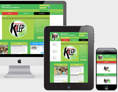 Handelsonderneming Klep website