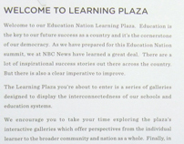 NBC'S Education Nation in Rockefellar Plaza, 9/10