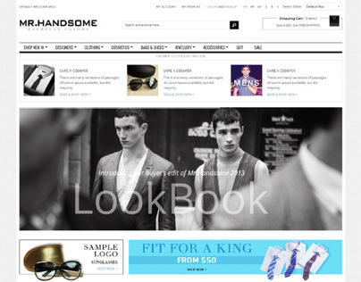 Gala Mr.Handsome, Retina Responsive Magento Theme