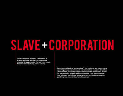 Slave Corporation - Video Performance