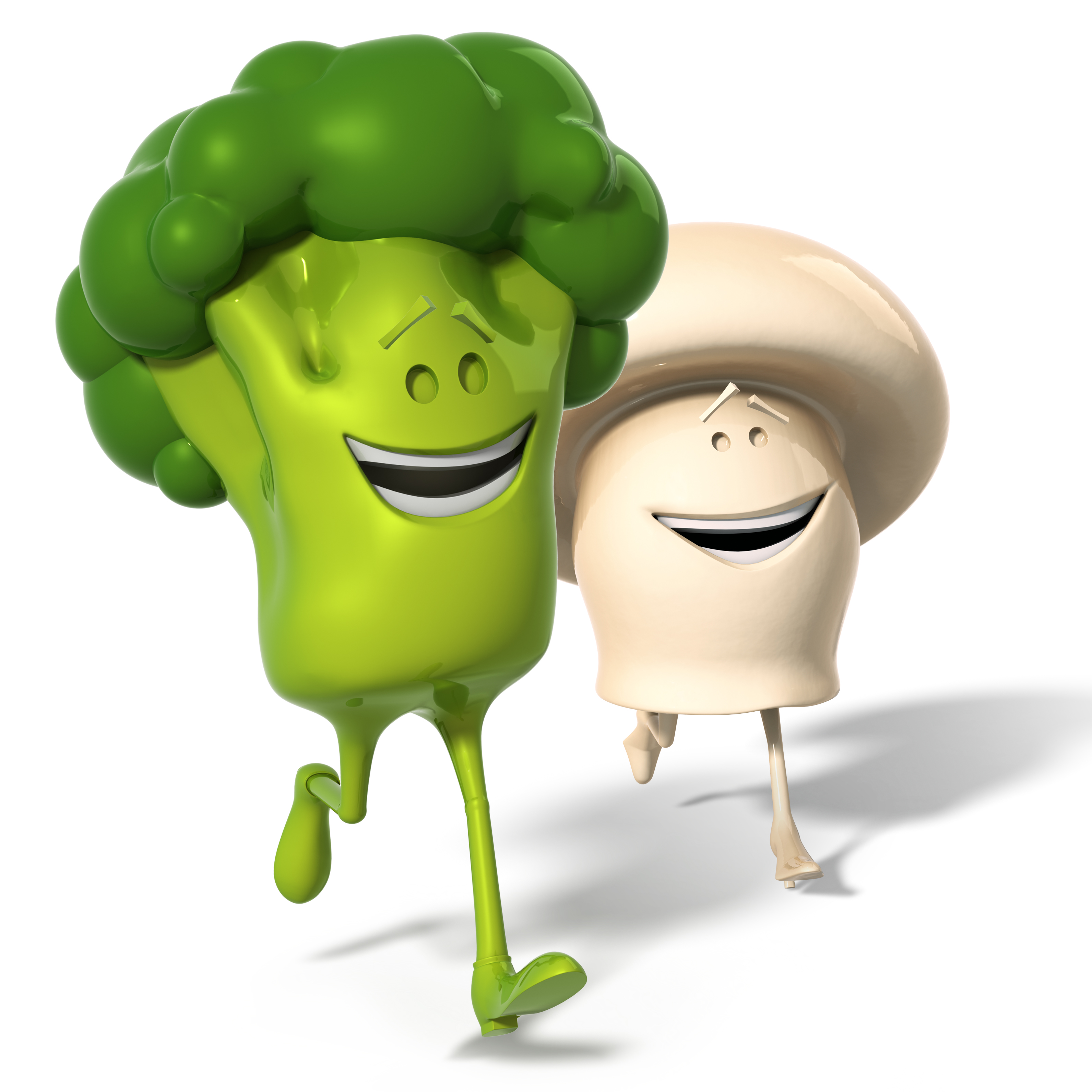 Mr. Broccoli & Mrs. Champignon - Bonduelle characters.
