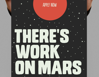 Theres work on Mars