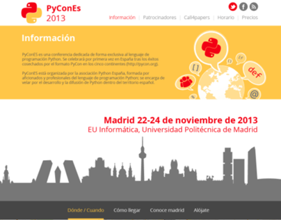 PyCon Es WEB + GRAPHIC DESIGN
