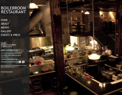 Boiler Room Restaurant: Website