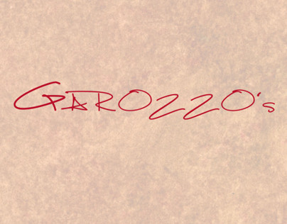 Garozzos Menu Layout