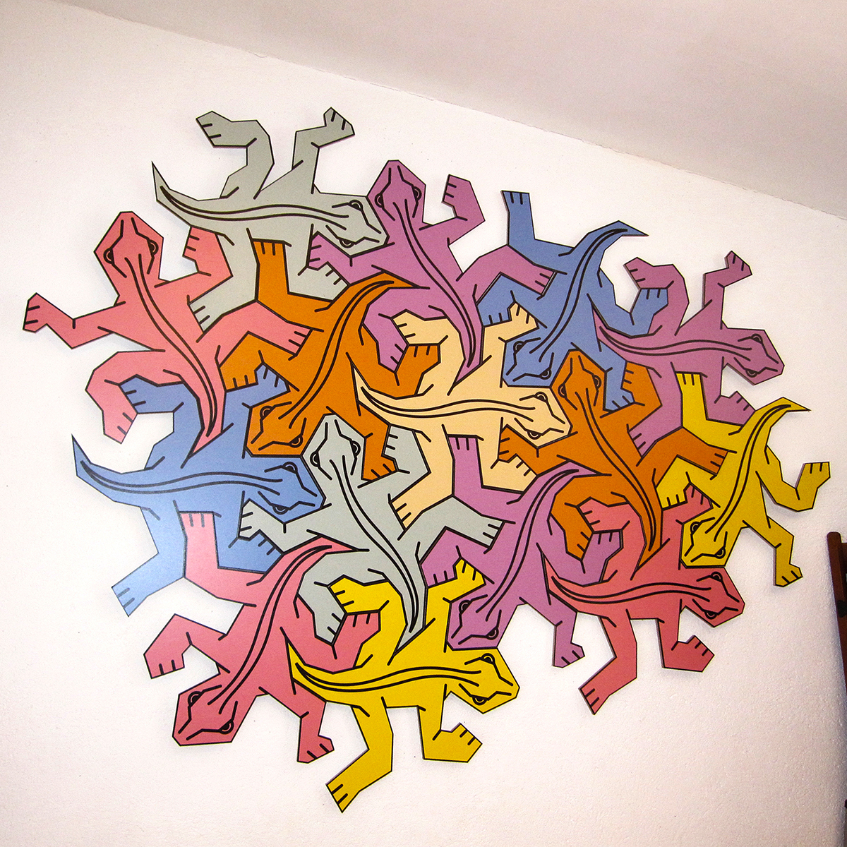 Escher puzzle on my wall
