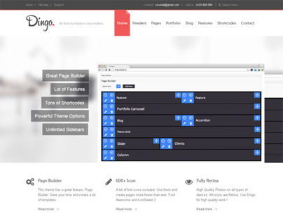 Dingo, Retina Ready Responsive Multi-Purpose WordPress