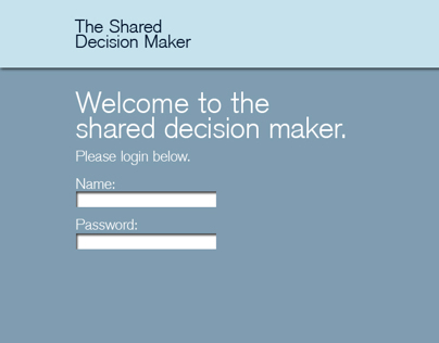 Website Design - Shared Decision Maker