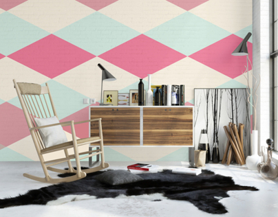 Pastel Geometry Wall Murals