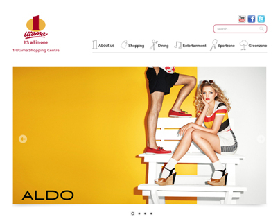 Website Design- 1 Utama Shopping Center