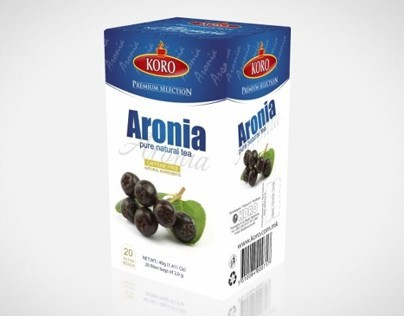 Packaging design for Aronia KORO TEA