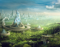 Fantasy on city image in the future