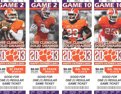 Client Work - CU Game Ticket Gift Vouchers